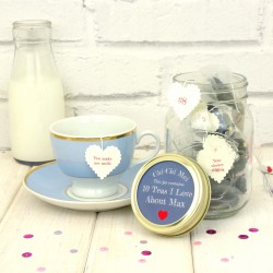 10 Teas I Love About You Personalised Gift Jar