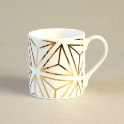 Gold Tetrahedron Mug