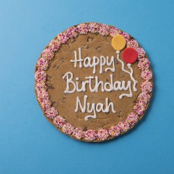 Happy Birthday Giant Chocolate Chip Cookie - Pink