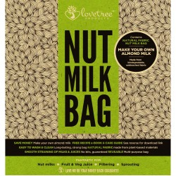 Hemp Nut Milk Bag - Best Premium Quality Organic Almond Milk Strainer