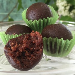 12 Raw Cacao and Peanut Butter Fudge Balls