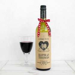 A Toast To Us Valentines Wine Bottle Card