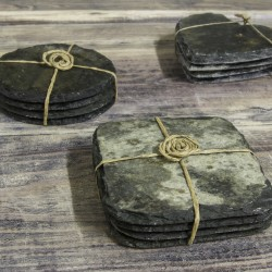 Reclaimed Slate Coasters Set of 4