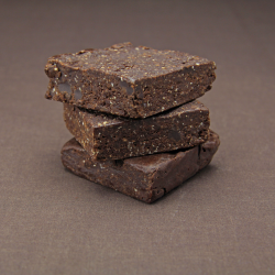6 Organic Raw Double Chocolate Brownies