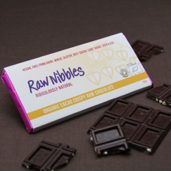 Organic Raw Cacao-Crispy Chocolate Bars