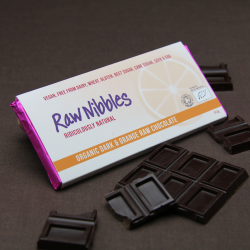 Organic Raw Dark & Orange Chocolate Bars