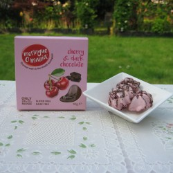 Cherry & Dark Chocolate Meringues - Small Box (10g)