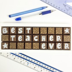 Best Teacher Ever Box of Chocolates (quirky font)
