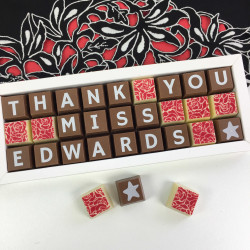 Personalised Thank You Teacher Box of Chocolates