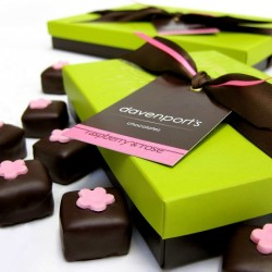 Luxury Chocolate Gift Box: Handmade Raspberry and Rose Truffles