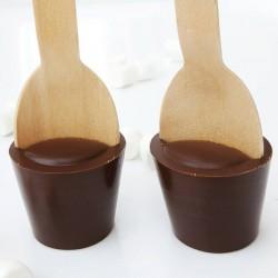 5 Miniature 70% cocoa dark hot chocolate stirrers