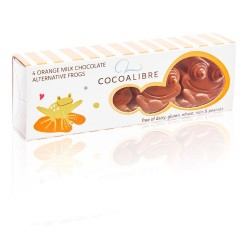 Dairy Free Orange Rice Milk Chocolate Frogs (12 mini packs)