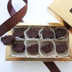 Luxury Organic Chocolate Signature Crown Box (Soya & Gluten Free)