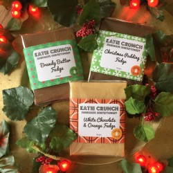 Christmas Fudge Trio - Christmas Pudding Fudge, Brandy Butter Fudge and White Chocolate & Orange Fudge