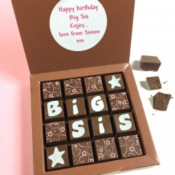 Personalised Message Chocolates for Big Sis