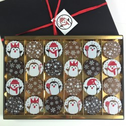 Milk & Dark Chocolate Christmas Penguins Gift Box