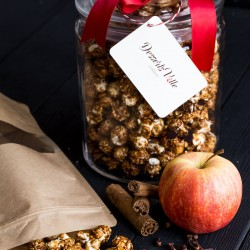 Mulled Apple Cider Popcorn with Candied Pecan Nuts