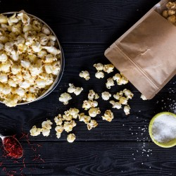 Saffron Rose Sweet and Salty Popcorn