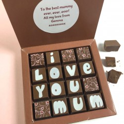 Personalised Message Chocolates for Mum