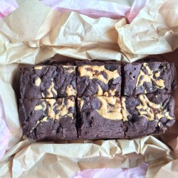 Dairy Free - Vegan - Egg Free Swirled Peanut Butter Brownie