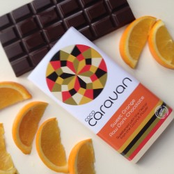 Sweet Orange Raw Vegan Chocolate Bars