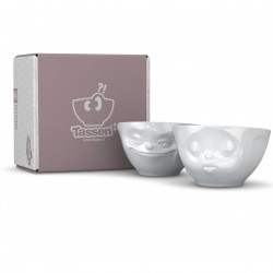 Set of 2 white porcelain bowls each 200ml with gift box