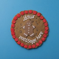 Gingerbread Man Giant Chocolate Chip Cookie Card