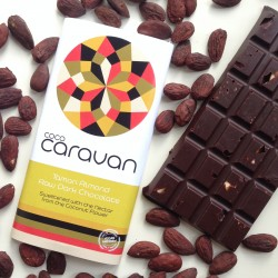 Salty Almond Raw Vegan Chocolate Bars