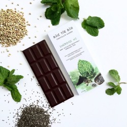 Energise Me - Activated Crispy Mint Raw Chocolate Bar - Raiz The Bar