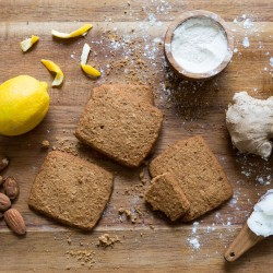 Ooh-la-la Lemon Ginger Tea Biscuits (Organic, Gluten Free)