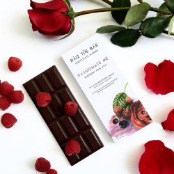 Passionate Me: Raspberry Rose Acai Raw Chocolate Bar - Raiz The Bar