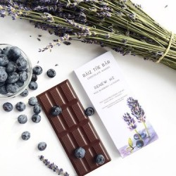 Renew Me - Wild Blueberry Lavender Raw Chocolate Bar - Raiz The Bar