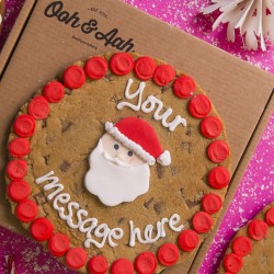 Santa Giant Chocolate Chip Cookie Card