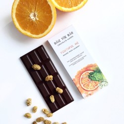 Youthful Me - Orange White Mulberry Raw Chocolate Bar - Raiz The Bar