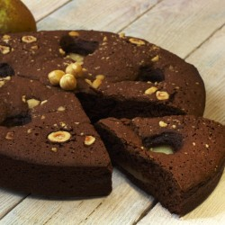 Chocolate and Pear Cake (Gluten & Dairy Free)