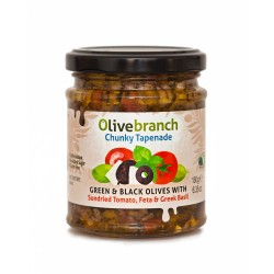Chunky Olive Tapenade - Sundried Tomato, Feta & Greek Basil