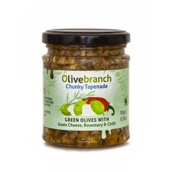 Chunky Olive Tapenade - Goat's Cheese, Rosemary & Chilli