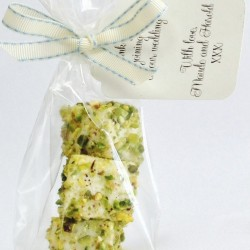 Pistacho and White Chocolate Marshmallow Favours