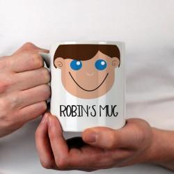Personalised Boy's Face Mug