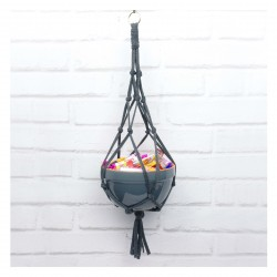 Macrame Hanging Treat Bowl