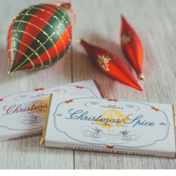 3 Cinnamon Dark Chocolate Bars - Christmas Special