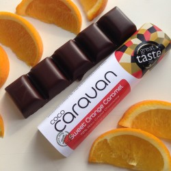 Sweet Orange and Caramel Raw Vegan Chocolate Bars (6 pack)