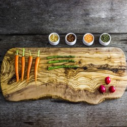 Large Rustic Olive Wood Serving/Presentation Board/Platter - Two Sizes Available