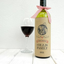 Love From The Family Christmas Wine Bottle Card