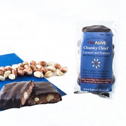 Chunky Chief - Cashew Caramel And Peanut Raw Chocolate Bar (3 pack)