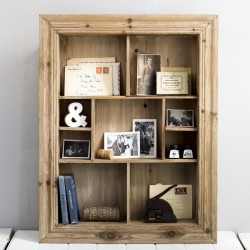Wooden Multi Shelf Wall Unit