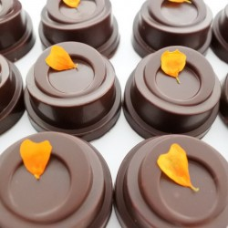 Personalised Luxury Organic Orange Chocolate Box (Soya & Gluten Free)