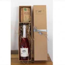 Sparkling Wine and Organic Dark Chocolate Gift Box