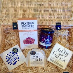 Our classic award-winning cheeses in an attractive wicker hamper