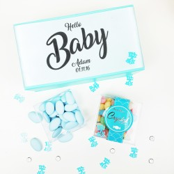 Personalised 'Baby Boy' Baby Shower or Christening Gift. Gluten-free & Vegan
